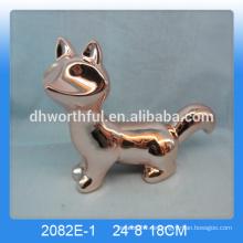 Personalisierte goldene Fuchs Wohndekor, goldene Fuchs Dekoration, Keramik Fuchs Figur