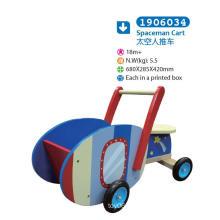 Wooden Push Along Cart for Children for Kids