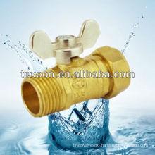 Standard port ball valves with butterfly handles mini valve KOREA