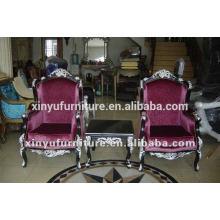 Estilo francés neo-clásico real rey salón chaise para sala de estar utilizado XYD124