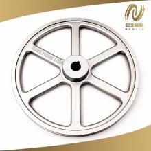 Roda de alumínio de ranhura única de 10 polegadas