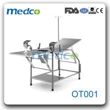 Table de travail obstétrique des patients entièrement en acier inoxydable OT001
