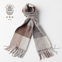 Unisex Plaids Wool Cashmere Scarf