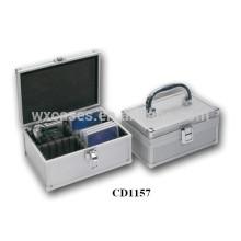 caja de aluminio DVD alta calidad CD 20 discos (10mm) por mayor