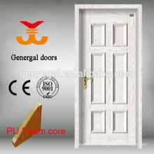 PU core thermal insulation interior 45mm steel doors