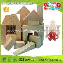EN71 aprovou 17pcs Plywood Educational Big Construction Blocks