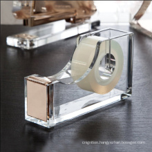 Acrylic Adhesive Tape Dispenser Handmade Acrylic Tape Dispenser With Customized Logo
