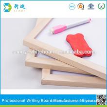 Holz gerahmtes Whiteboard mit Eisenblech