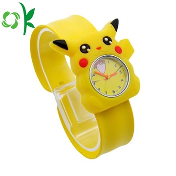 Cute Yellow silikon Slap Digital Watch Wristbands lembut