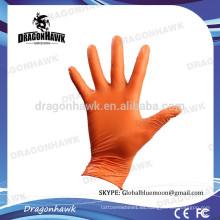 Venta al por mayor guantes de nitrilo desechables de color naranja L