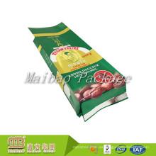 Las bolsitas de té verdes impresas del café del diseño del empaquetamiento del lado del papel de aluminio de Guangzhou flexible imprimieron