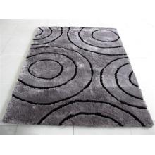 Tapis de soie en polyester soyeux de conception moderne