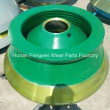 Peças de desgaste do britador de alto manganês para equipamentos de mineração