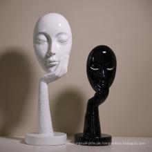 Europäische moderne Harz-Denker-Maske Mode-Handwerk kreative Hauptdekorationen