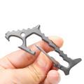Mosquetón Titanium Shark EDC Tool con abrebotellas