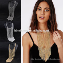 2017 New Bohemian trendy Fringe Tassel Collar Statement Necklace with Beads Jewelry