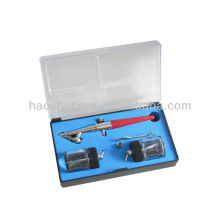 Single action HS-58S with 2pcs 20cc glass bottle airbrush