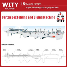 Carton box folding and colleing machie