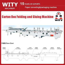 carton box folding and gluing machie
