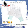 13G Polyester Palm White PU Coated Glove En 388 4131