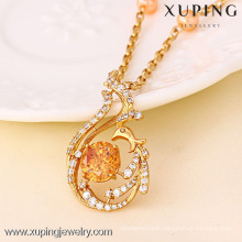 41300 Xuping Top Quality Jewelry Crystal Pendant Necklace