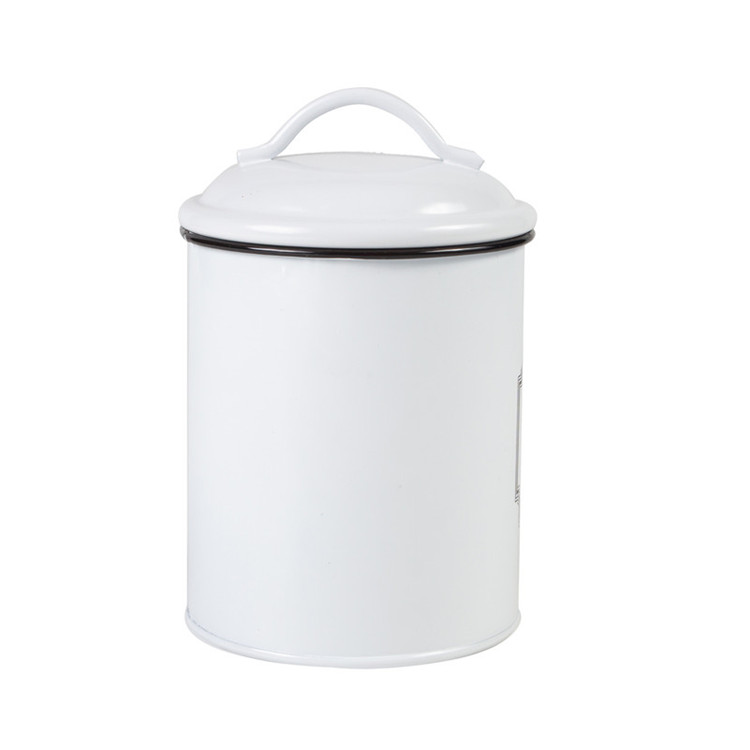 Metal kitchen storage canister retro