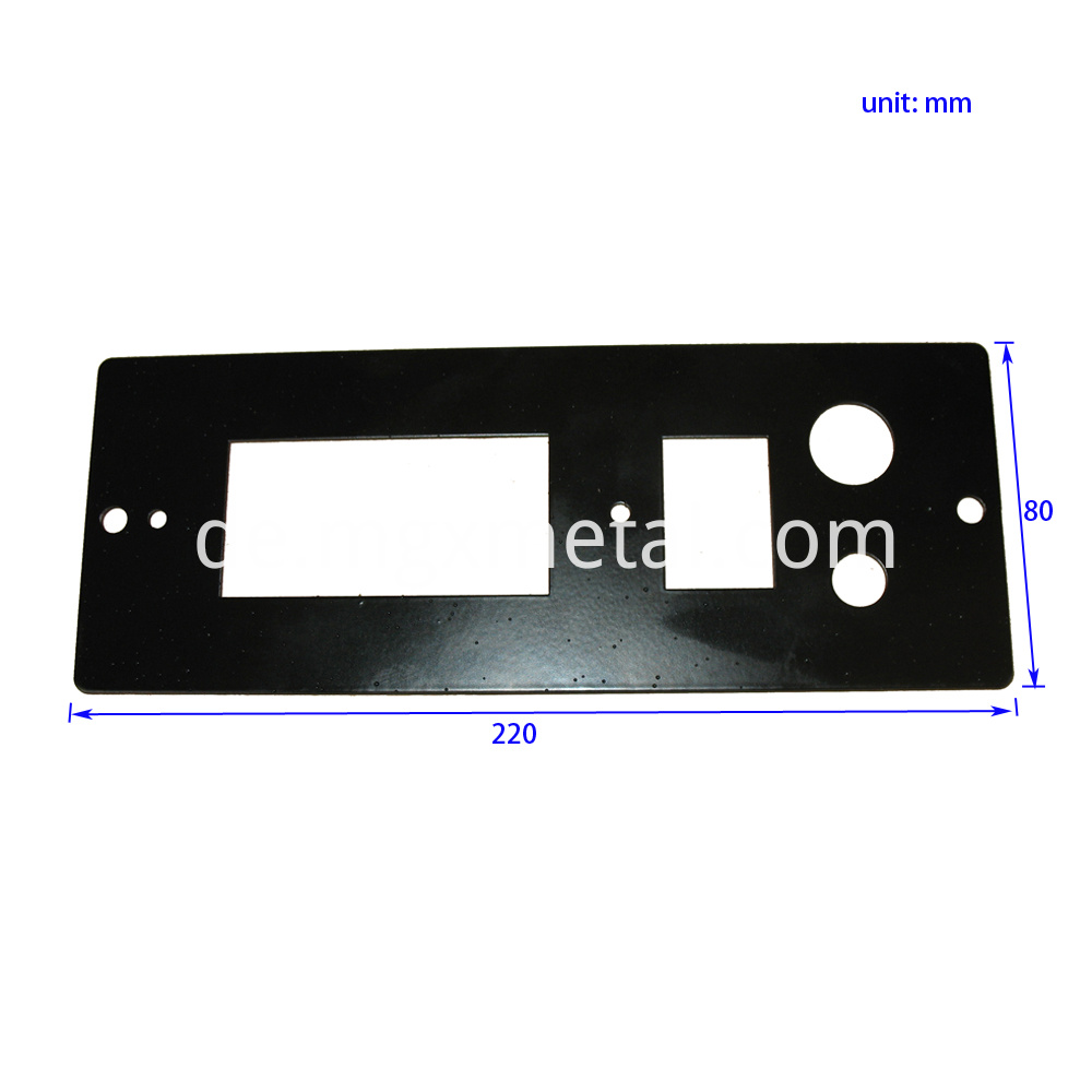 MMB0009 Steel Push Button Switch Plate Size