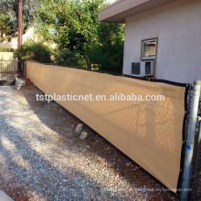 Tela bege da tela da privacidade da cerca de 4'x50 'para o jardim da jarda da construção