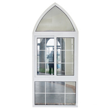 Guang dong white color pvc window/double glazing pvc sliding window grill design