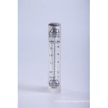 Plattenbauweise montierte Glasdurchflussmesser