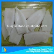 IQF forme blanc nettoyé tube de calmar congelé