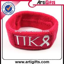 Correa de pulsera deportiva custom sweatband de logotipo personalizado