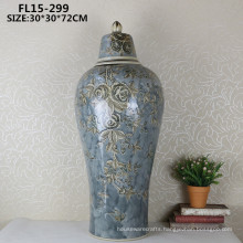 Chiness antique ceramic crafts decorative flower vase for home decoration