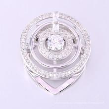 Brosche Rückenpins künstliche Diamant Brosche Saphir blau große Runde Brosche Pin