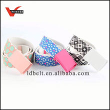 Popular canvas ribbon belts