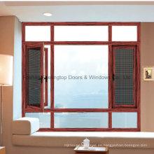 Venta caliente ventana de aluminio con doble vidrio templado (FT-W135)