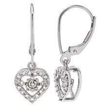 Heiße Verkäufe 925 baumeln Ohrring mit Tanzen-Diamant-Schmucksachen
