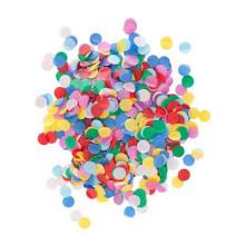 Confettis de papier rond mélangé coloré