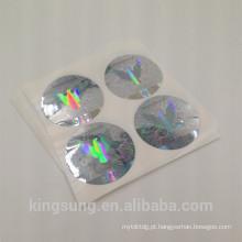 Etiqueta feita sob encomenda barata da etiqueta do holograma do laser da segurança 3d para a janela