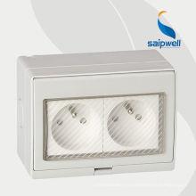 Prise de style français avec interrupteur d'éclairage Prise de courant 250V IP55