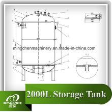 Réservoir de stockage sanitaire en acier inoxydable pour la fabrication d'aliments