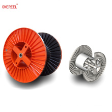 Corrugated steel cable reel