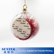 New Sublimation Blank Christmas Ornament Plastic Ball