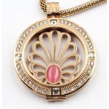 Pendentif de médaillon en acier inoxydable 316L fait sur commande de haute qualité pour des bijoux de cadeau