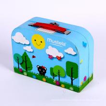 Цветастая коробка печатания бумажная упаковывая чемодан для детей