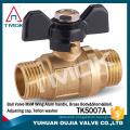 TMOK 2pc male thread brass ball valve dn20 sanitary water ball valve DN15-DN100 ball cock valve lever handle