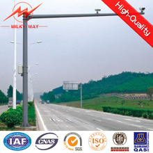 Q345 4m / 6m Galvanized Traffic Light Pole Signal Customization Available