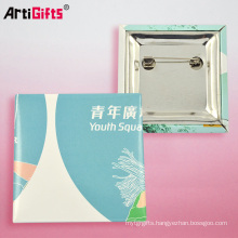 25mm tin badge square button badge