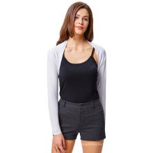 Belle Poque Women's Comfortable Modal White Long Sleeve Bolero Modal Bolero Shrug BP000114-2