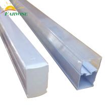Éclairage à tube en plastique carré transparent à LED T5 intégré